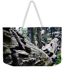 Weekender Tote Bag featuring the photograph A Fallen Giant Sequoia by Kyle Hanson