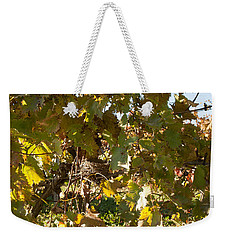 Weekender Tote Bag featuring the photograph A Few Grapes Left For The Birds by Carol Lynn Coronios
