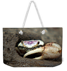 A Fiddler Crab Around Hilton Head Island Weekender Tote Bag by Kim Pate