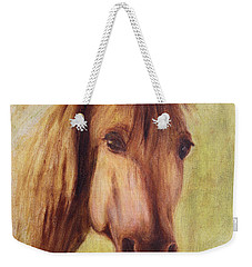 Weekender Tote Bag featuring the painting A Fine Horse by Xueling Zou