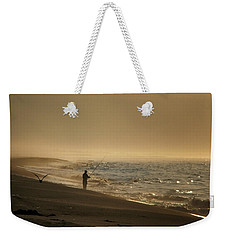 Weekender Tote Bag featuring the photograph A Fisherman's Morning by GJ Blackman