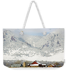 Weekender Tote Bag featuring the photograph A Flatirons Favorite by Marilyn Hunt