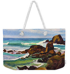 Weekender Tote Bag featuring the painting A Frouxeira Galicia by Pablo Avanzini