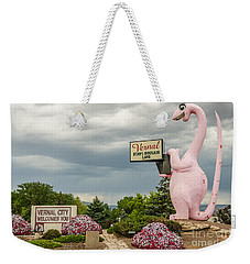 Weekender Tote Bag featuring the photograph A Fun Welcome To Vernal by Sue Smith