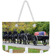 Weekender Tote Bag featuring the photograph A Funeral In Arlington by Cora Wandel