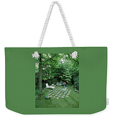 A Garden With Checkered Pavement Weekender Tote Bag