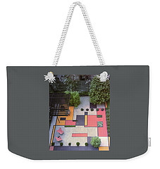 A Garden With Colourful Landscaping In Dr Weekender Tote Bag