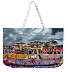 A Genesis Sunrise Over The Old City Weekender Tote Bag by Ronsho