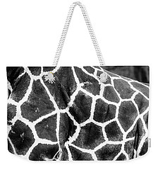 Weekender Tote Bag featuring the photograph A Giraffe's Maze by Steven Santamour