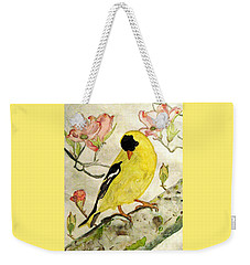 A Goldfinch Spring Weekender Tote Bag