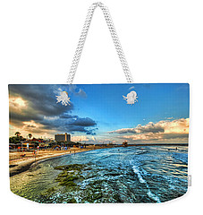 a good morning from Hilton's beach Weekender Tote Bag