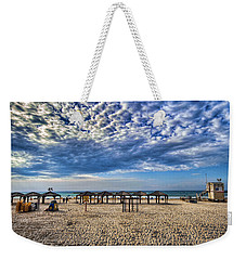 a good morning from Jerusalem beach  Weekender Tote Bag by Ron Shoshani