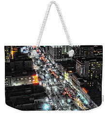A Gothic Night In New Orleans On Canal Street Weekender Tote Bag