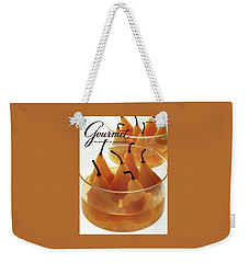 A Gourmet Cover Of Baked Pears Weekender Tote Bag by Romulo Yanes