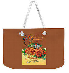 A Gourmet Cover Of Chicken Weekender Tote Bag by Henry Stahlhut