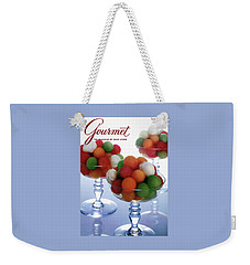 A Gourmet Cover Of Melon Balls Weekender Tote Bag by Romulo Yanes