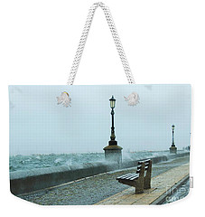 A Grey Wet Day By The Sea Weekender Tote Bag