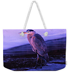 A Heron On The Moyie River Weekender Tote Bag by Jeff Swan