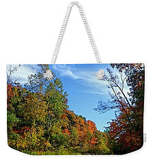 Weekender Tote Bag featuring the photograph A Hidden Creek by Kelly Mills