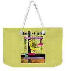 A House And Garden Cover Of A Bird In A Cage Weekender Tote Bag