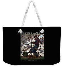 A House And Garden Cover Of A Gardener Weekender Tote Bag