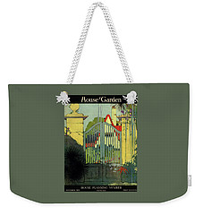 A House And Garden Cover Of A Gate Weekender Tote Bag