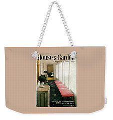 A House And Garden Cover Of A Hallway Weekender Tote Bag