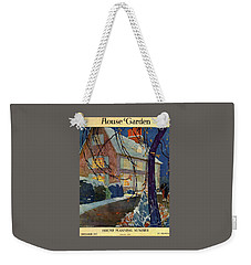 A House And Garden Cover Of A House In Winter Weekender Tote Bag