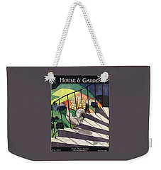 A House And Garden Cover Of A Rooster Weekender Tote Bag