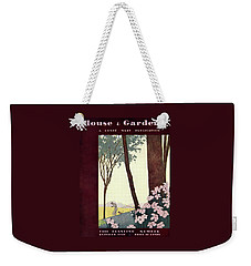A House And Garden Cover Of A Rural Scene Weekender Tote Bag