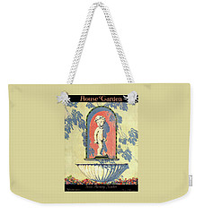 A House And Garden Cover Of A Statue Of A Boy Weekender Tote Bag