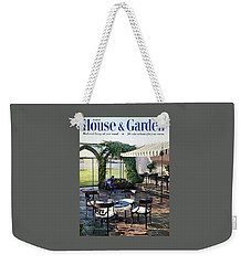 A House And Garden Cover Of A Terrace In East Weekender Tote Bag