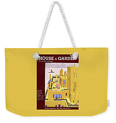 A House And Garden Cover Of An Apartment Building Weekender Tote Bag