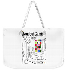 A House And Garden Cover Of Color Swatches Weekender Tote Bag