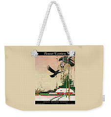 A House And Garden Cover Of Crows By A House Weekender Tote Bag