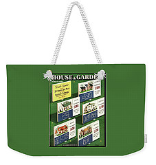 A House And Garden Cover Of Floorplans Weekender Tote Bag
