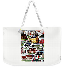 A House And Garden Cover Of Suburban Houses Weekender Tote Bag