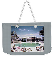 A House In Miami Weekender Tote Bag by Tom Leonard