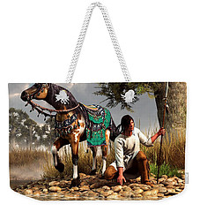 A Hunter And His Horse Weekender Tote Bag