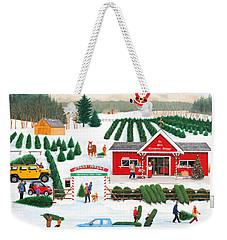 A Jolly Holly Holiday Weekender Tote Bag