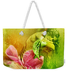 Weekender Tote Bag featuring the photograph A Kiss Before Sunset by Rebecca Sherman