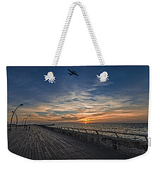Weekender Tote Bag featuring the photograph a kodak moment at the Tel Aviv port by Ron Shoshani