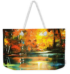 A Light In The Forest Weekender Tote Bag