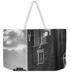 A Light Shines Down Weekender Tote Bag