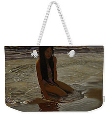 A Line Between Ocean And Sand Weekender Tote Bag