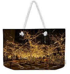 A Little Golden Garden In The Heart Of Manhattan New York City Weekender Tote Bag by Georgia Mizuleva