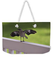 A Little Visitor Northern Mockingbird Weekender Tote Bag