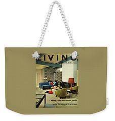 A Living Room With Carpeting By Callaway Weekender Tote Bag