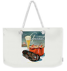 A Lobster And A Lobster Pot With Beer Weekender Tote Bag by Henry Stahlhut