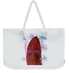A Lobster Claw In Red Packaging Weekender Tote Bag